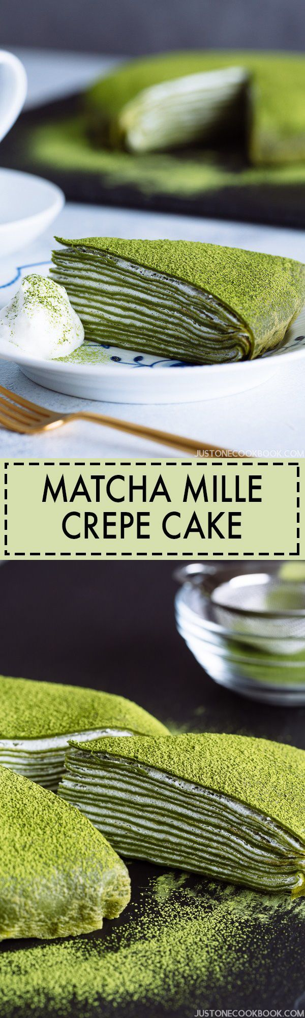 Matcha Mille Crepe Cake 抹茶ミルクレープケーキ | Easy Japanese Recipes at JustOneCookbook.com