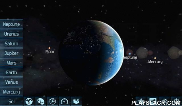 Solar System Explorer 3D  Android App - playslack.com ,  Soar into space and explore dozens of planets, moons and asteroids on an exciting journey through our solar system. High definition graphics and atmospheric music will make you feel like you are there!Features:★ HD graphics and awesome music and sound effects★ Easy to use and intuitive controls★ Detailed information about the places you visit★ Images based on real photos taken by telescopes or NASA spacecraft★ Ideal educational…