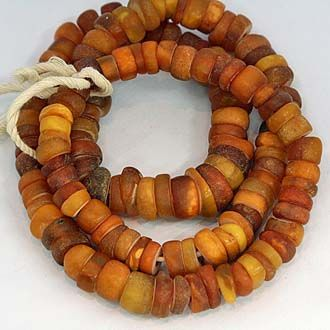 old trade amber beads sourced in Yemen...
