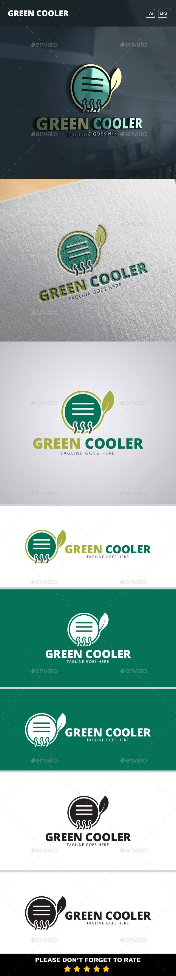 Green Cooler Logo Template
