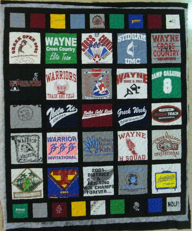 T Shirt Quilt Pattern Queen : 45 best images about T-Shirt Quilts on Pinterest Memory quilts, Quilt and High schools