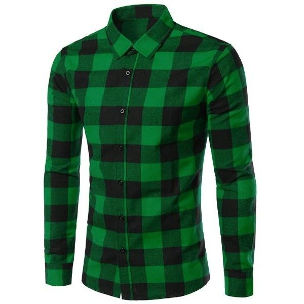Slimming Color Block Plaid Shirt Collar Long Sleeves Shirt For Men ($18) ❤ liked on Polyvore featuring men's fashion, men's clothing, men's shirts, men's casual shirts, mens casual long sleeve shirts, mens slim fit casual shirts, men's color block shirt, mens long sleeve shirts and mens slim fit shirts