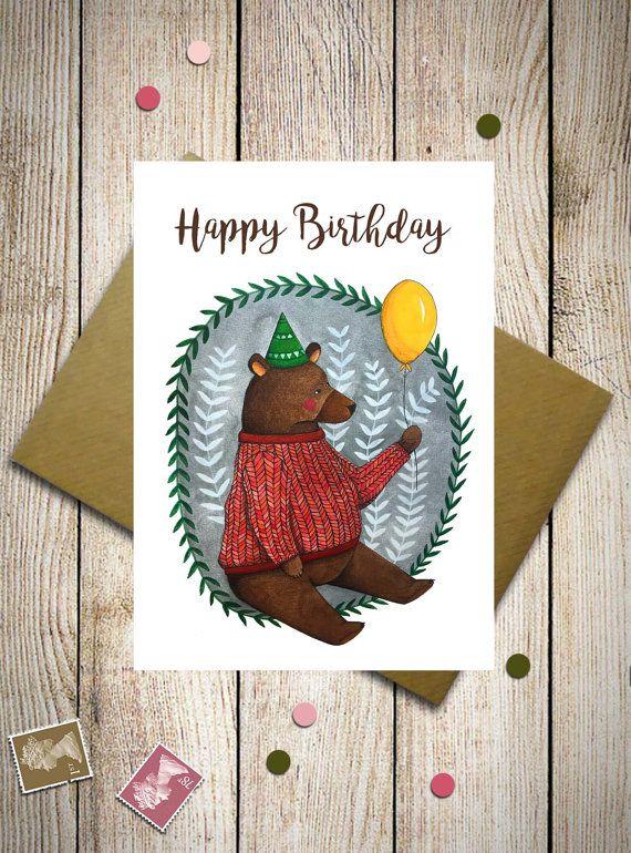 Birthday bear Birthday invitation party by aCupOfCreativity