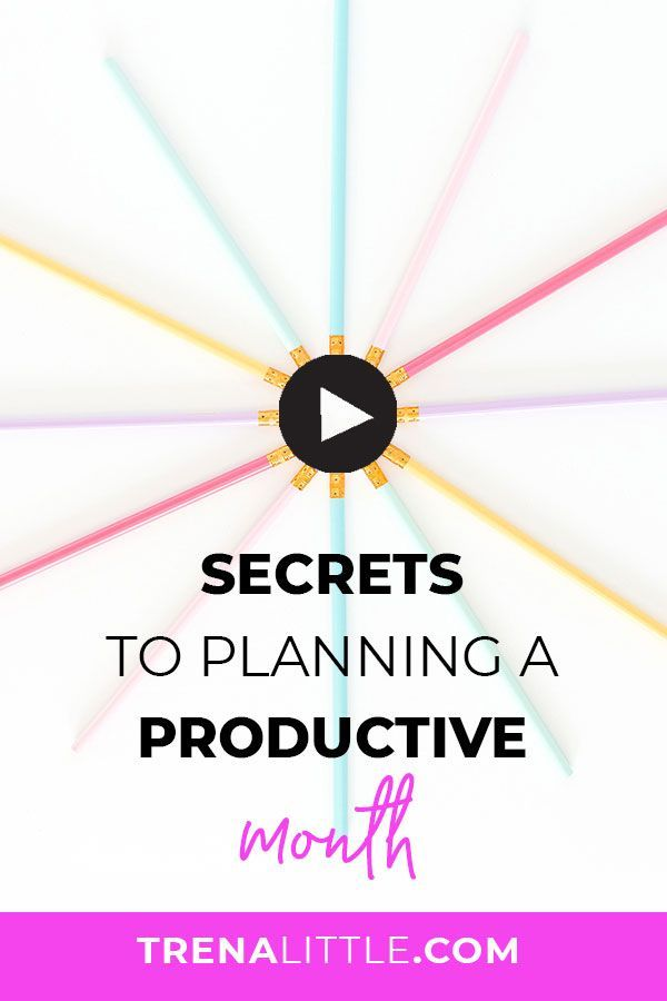 Want to learn to the secret for how to plan your month and getting more done in your schedule and business?  In this video I'm going to walk you through my planner routine to get more done and be super productive! // Trena Little -- #productivity #girlboss