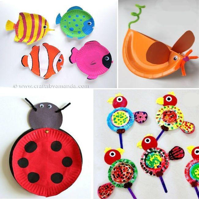 ANIMAL PAPER PLATE CRAFTS  sc 1 st  Pinterest & 197 best Papírtányérból images on Pinterest   Crafts for kids ...