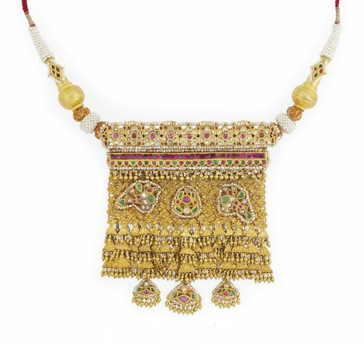288 best mala images on pinterest tribal jewelry jewel and a large gem set gold pendant india 20th century of rectangular form the dense gold lattice embelished with applied panels in the shape of birds aloadofball Images