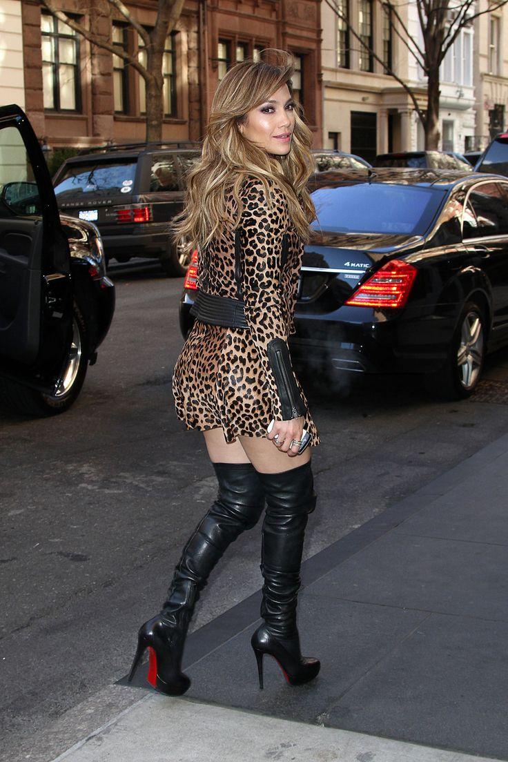 Jlo In Leopard Jlo Fashion Pinterest Them High