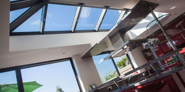 La véranda cuisine à toiture plate par Grandeur Nature
