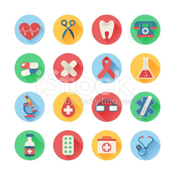 Medical icons in trendy flat style royalty-free stock vector art