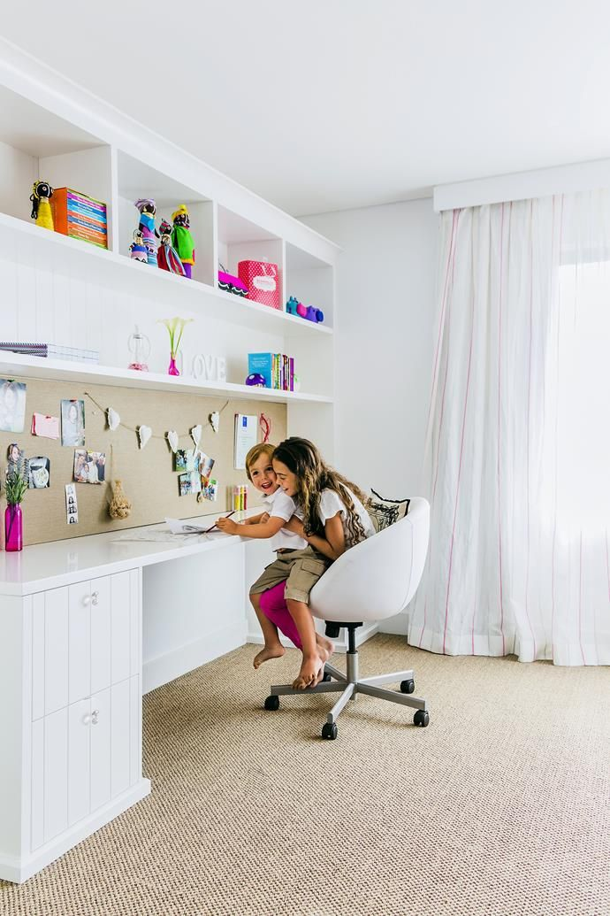 Kids' study space. | Photo: Maree Homer | Styling: Ashley Pratt | Story: Australian House & Garden