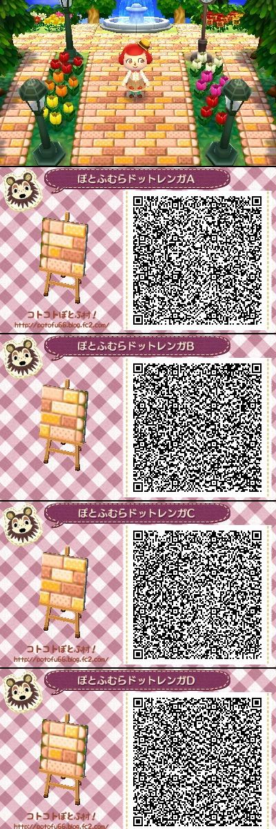 Animal Crossing New Leaf QR codes honey pathways. I don't play New Leaf, but I'll pin this just for fun. XD