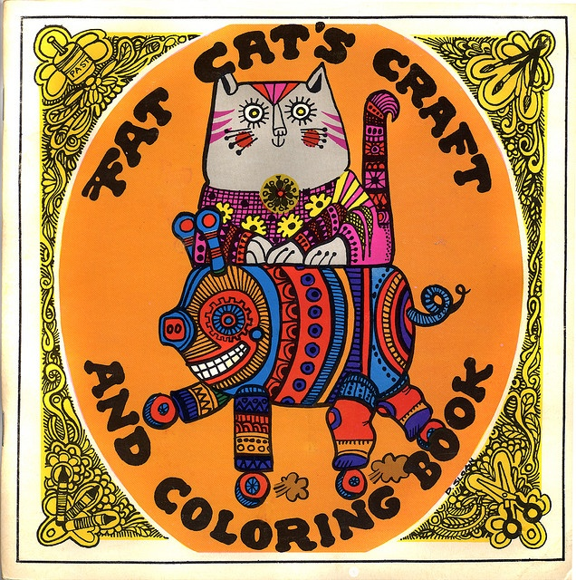 Fat Cat Craft And Coloring Book By Donna Sloan 1971 I