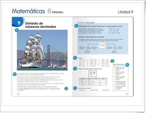 """Unidad 9 de Matemáticas de 6º de Primaria: """"División de números decimales"""""""