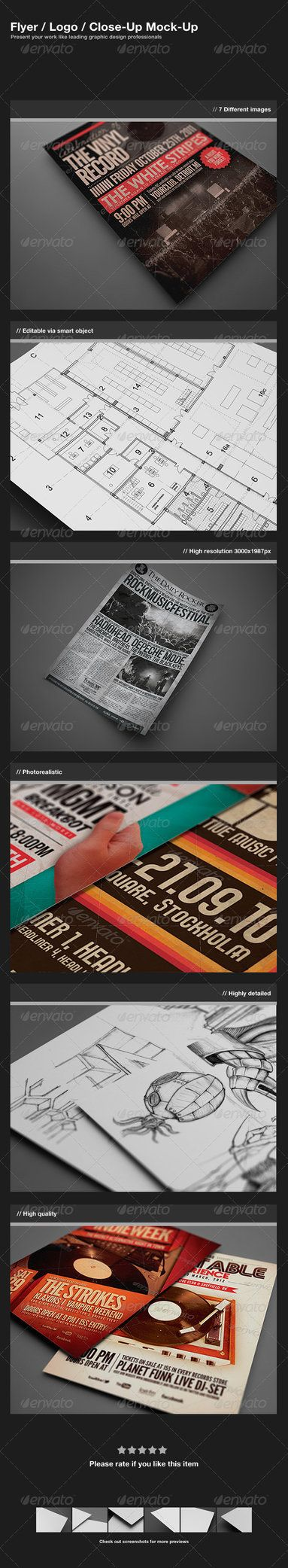 6 poster design photo mockups 57079 - Buy Flyer Logo Close Up Mock Up By Zeisla On Graphicriver Features 7 Different Images Editable Via Smart Object Resolution Paper Size Separa