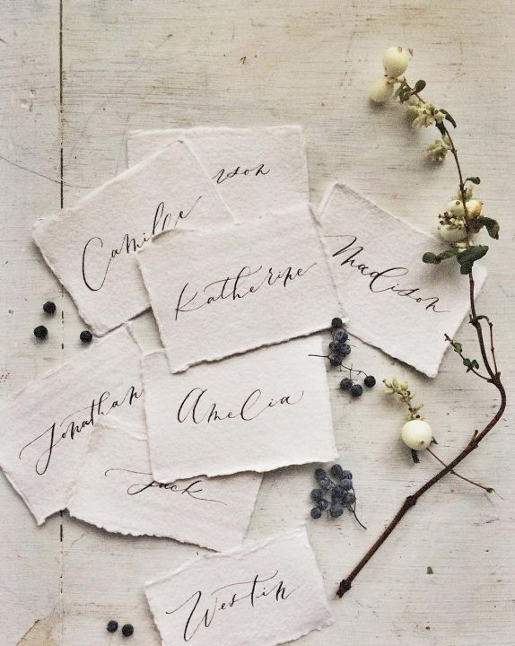 Calligraphy in Profile / Wedding Style Inspiration / LANE