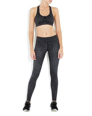 Vie Active Rockell Elite Compression Tights - Black Leopard - $140.00 - We are incredibly excited to welcome the Animal Instinct collection of activewear from Vie Active.   These Black Leopard Rockell Tights are a second skin fit in the highest of quality compression fabric to give you the nip and tuck in all the right places. #fireandshine #ethical #vieactive #animalinstinct #yoga #fashion #activewear #loungewear #barre #hiit #circuit #getthelook #style