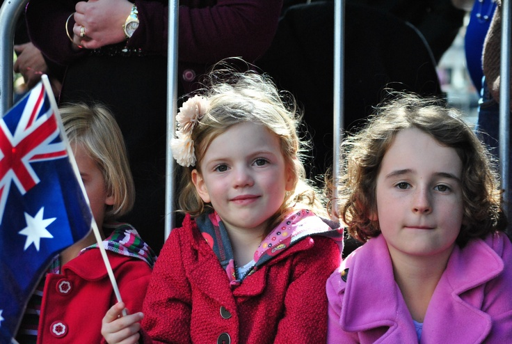 Young ones enjoy the march