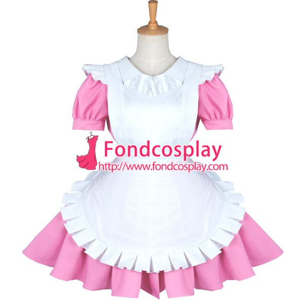 Haiyore Nyaruani- nyarukosan Maid cosplay Dress French maid Uniform pink cotton Tailor-made