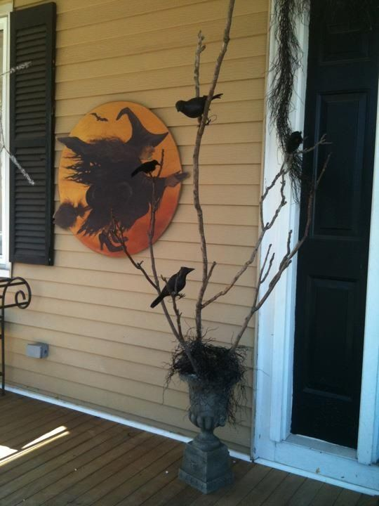 Halloween front porch witch