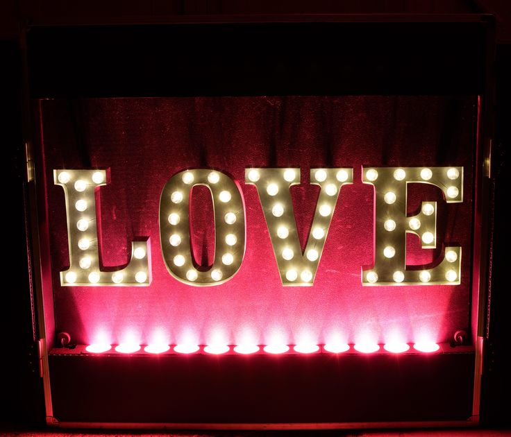 The Love Letter DJ booth can be set to any colour you like - DJ Martin Lake