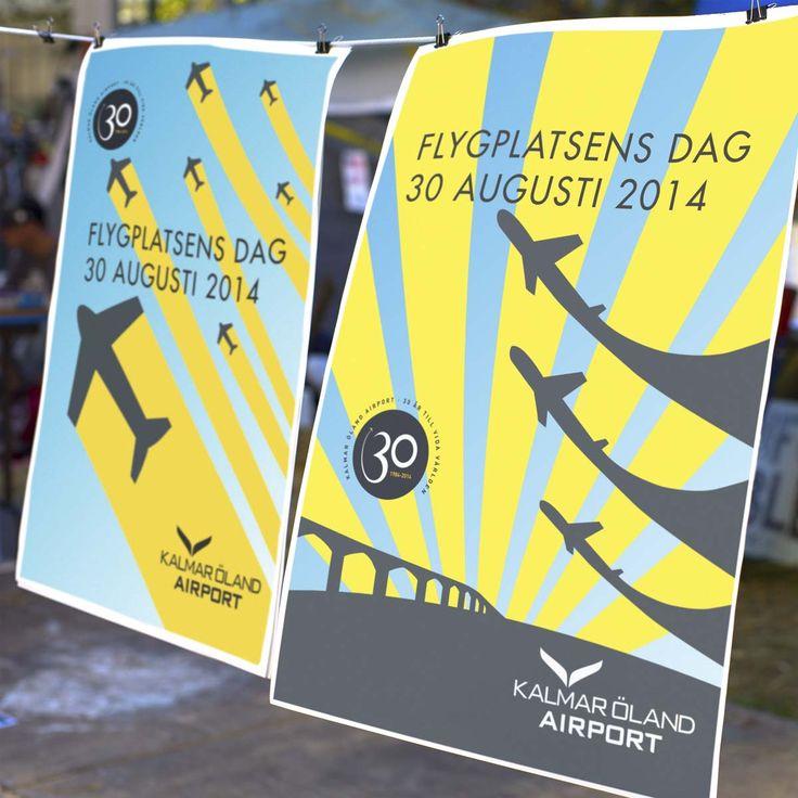 Retrodesign för Kalmar Öland Airports 30-årsfirande