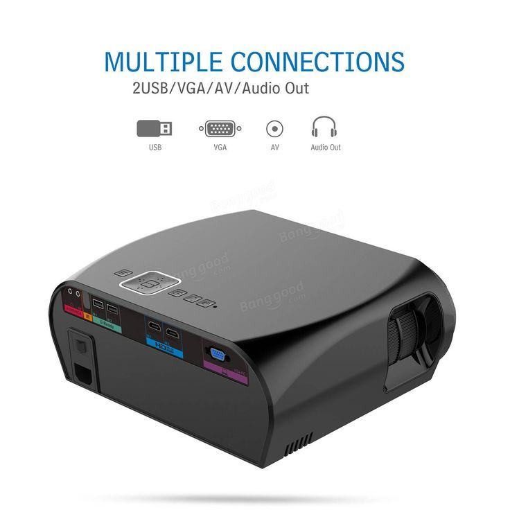 Vivibright GP100 LED Projector LCD 3500 Lumens 1280x800 Pixels 1080P HD VGA USB Home Theater