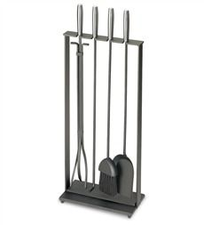 Solid Steel Soldiered Row Modern Fireplace Tool Set