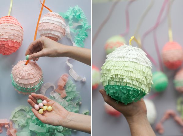 Mini Easter Egg Pinatas DIY | Oh Happy Day!