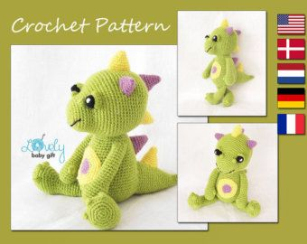 Amigurumi Pattern, Dragon, Crochet Pattern, Amigurumi Animal, Pattern Crochet, CP-126