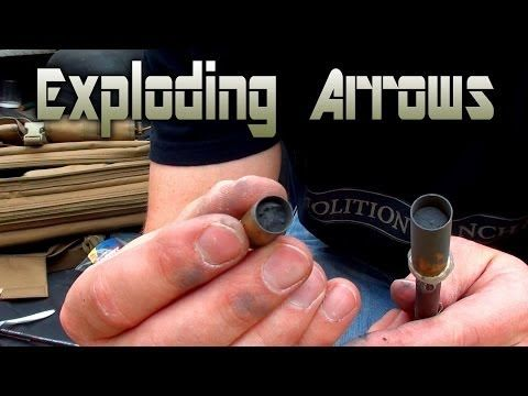 Homemade Explosive Tipped Crossbow Bolt