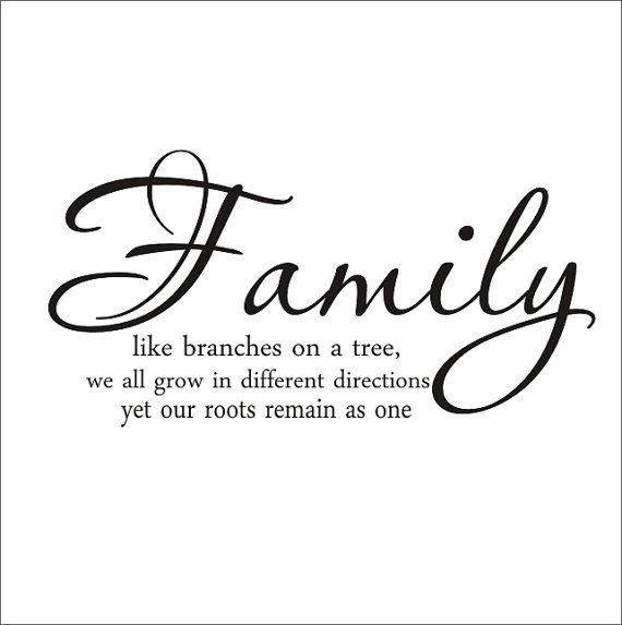Family Like Branches on A Tree Large Vinyl Wall Decal Housewares Living Room Family Room Gallery Photo Wall Family Quote Home Decor via Etsy