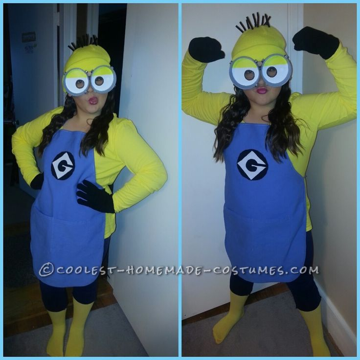 Cutest and Easiest Homemade Minion Costume for All Ages... Coolest Halloween Costume Contest