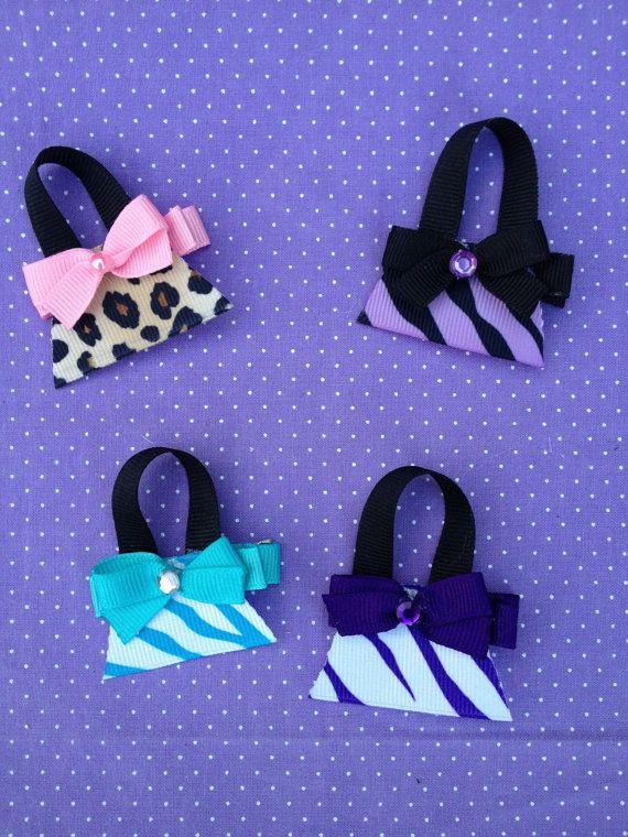 Purse Hair Clippie Handbag Hair Clippie by OurLilBowtique, $4.00