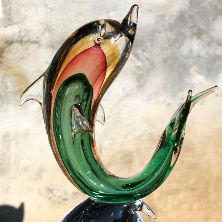 ULISSE -Murano glass dolphin sculpture  #muranoglass #venetianartglass #dolphin #yourmurano