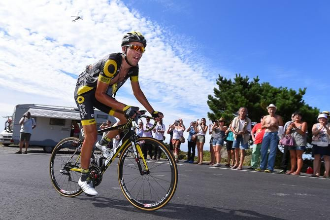 Lilian Calmejane on his way to winning stage 4 at the Vuelta