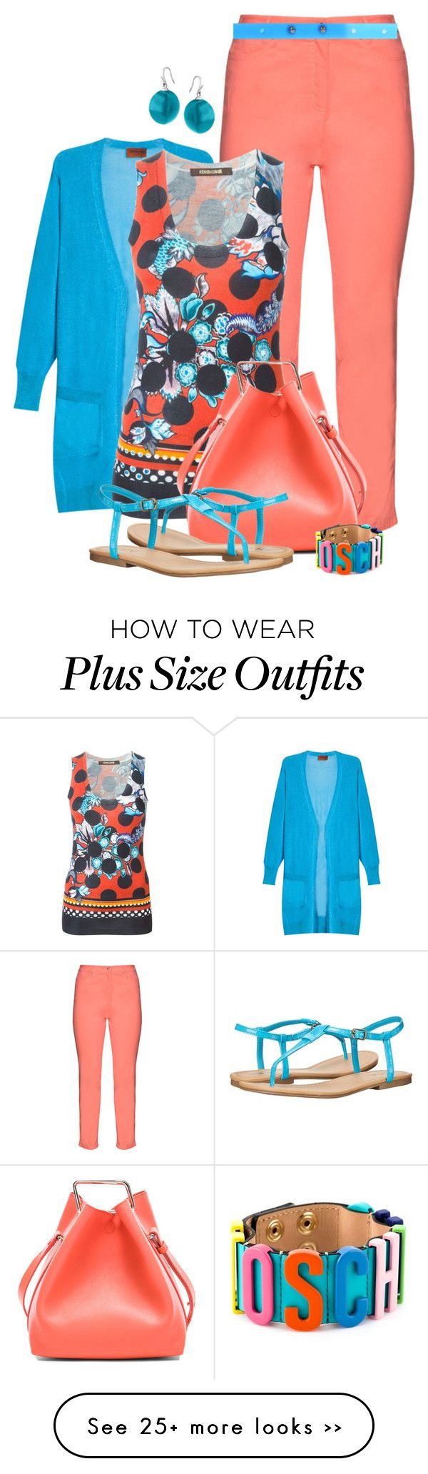 """Coral & Turquoise"" by feelgood35 on Polyvore"