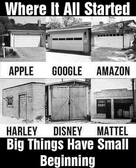 Big things have small beginnings