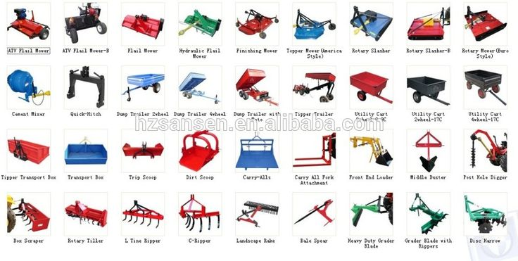 Agriculture equipment manufacturer produce tractor implements and atv attachments with CE