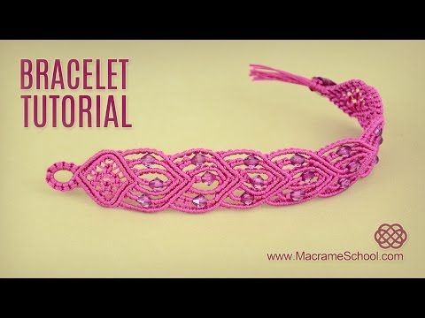 Connected Hearts Bracelet Tutorial by Macrame School - YouTube
