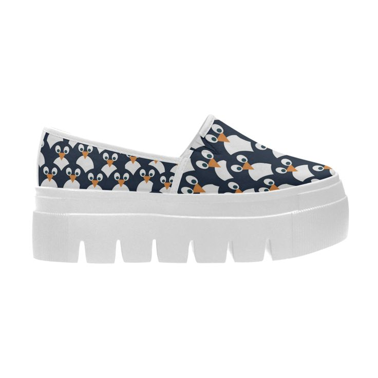 Penguin Pattern Selene Deep Mouth Women Shoes (Model 311)