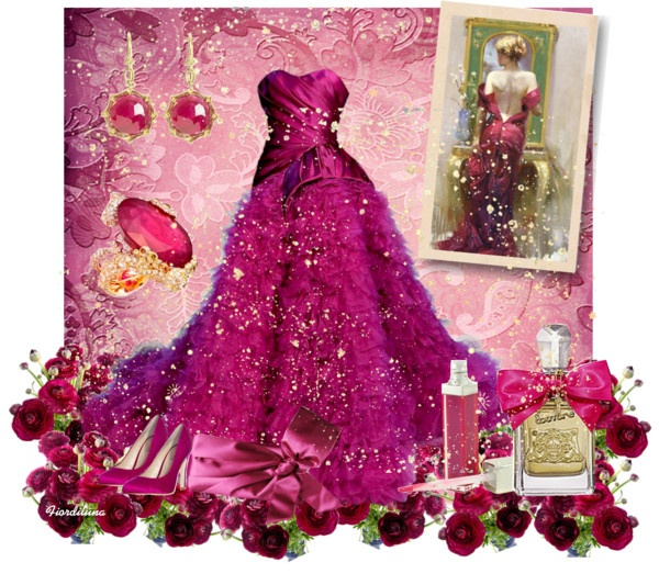 """""""The Colors: Red-Violet"""" by fiordiluna on Polyvore"""