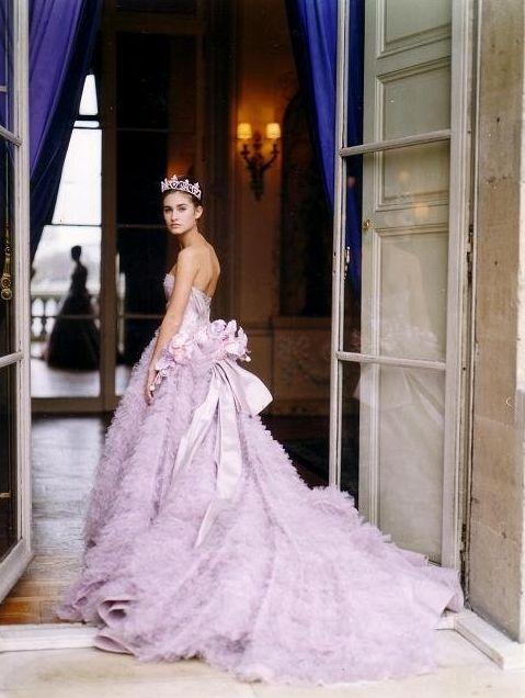 Lauren Bush in Dior Haute Couture at the Crillon Ball in paris