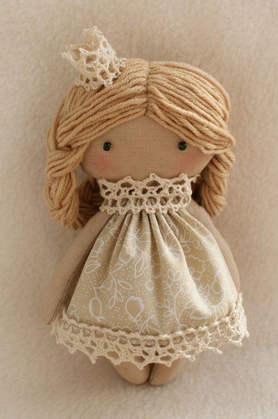 DIY Kit Rag Doll Princess Selena Blonde Angel Girl Tilda style primitive sewing…
