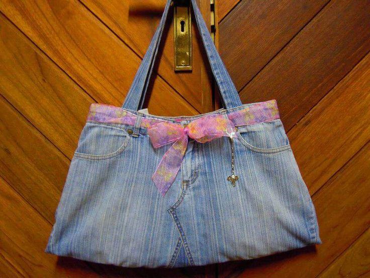 Bag from denim