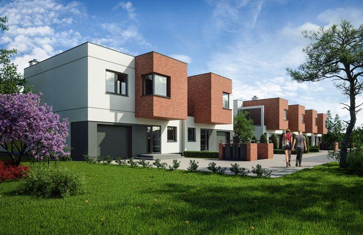 Ekskluzywne #osiedle domków jednorodzinnych w Osielsku. Projekt Moderator Inwestycje.   #dom #architektura #render