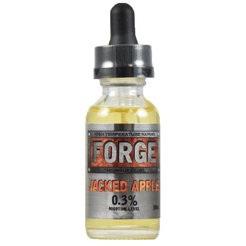 Forge Vapor eLiquids Jacked Apple - A red apple flavor lightly toasted and paired with a touch of cinnamon and graham cracker, then soaked in a light cream for just long enough to hold all those flavors together. Jacked Apple is a crafted cereal flavor you know and love, except done in the Forge Vapor style, that is, able to handle every bit of heat and every quad coil you throw at it.85% VG