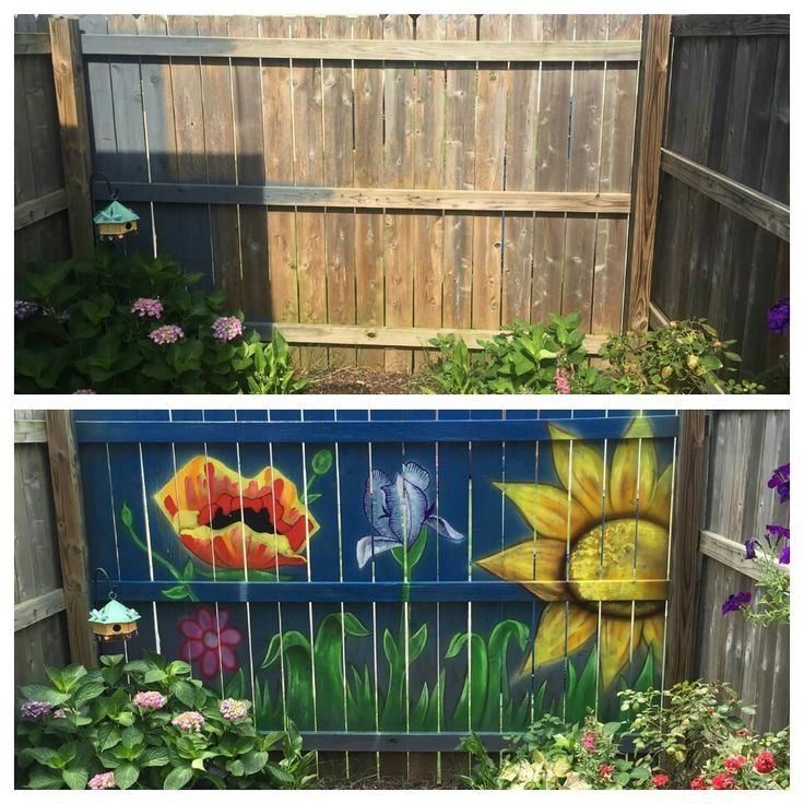 100 best fence painting murals images on pinterest fence for Fence painting ideas