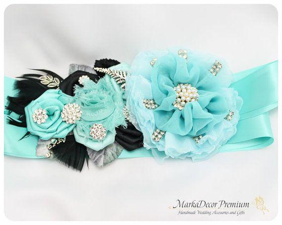 Bridal Prom Sash / Custom Wedding Bridesmaids by MarkadecorPremium