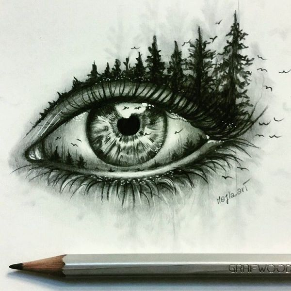 15+ Pencil Drawings of Eyes, Fineart, Pencil Drawings, Sketches ... More