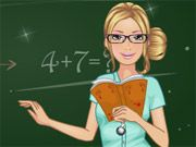 Free Online Girl Games, Barbie is a new teacher at the local elementary school and she wants to dress well to impress the parents and her students!  Choose between different dresses, shirts, skirts, pants, shoes and much more!  Make sure you look both professional and fashionable!, #girl #barbie #teacher #dress #makeover #fashion